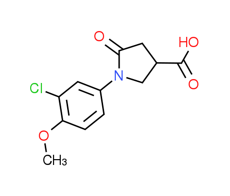 1-(3-Chloro-4-methoxyphenyl)-5-oxopyrrolidine-3-carboxylic acid