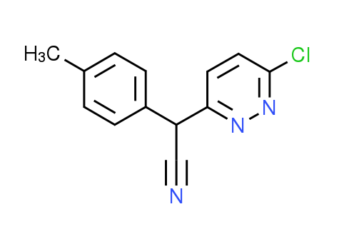 2-(6-Chloro-3-pyridazinyl)-2-(4-methylphenyl)-acetonitrile