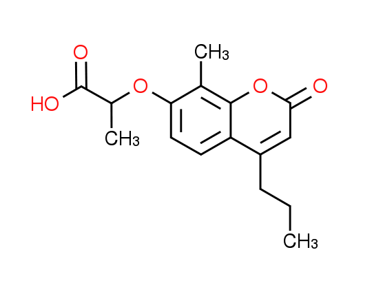 2-[(8-Methyl-2-oxo-4-propyl-2H-chromen-7-yl)oxy]-propanoic acid