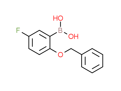 2-Benzyloxy-5-fluorophenylboronic acid