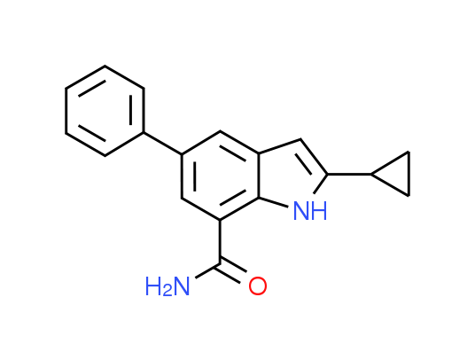 2-Cyclopropyl-5-phenyl-1H-indole-7-carboxamide