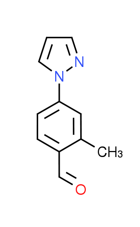 2-Methyl-4-(1H-pyrazol-1-yl)benzaldehyde