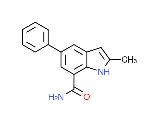 2-Methyl-5-phenyl-1H-indole-7-carboxamide
