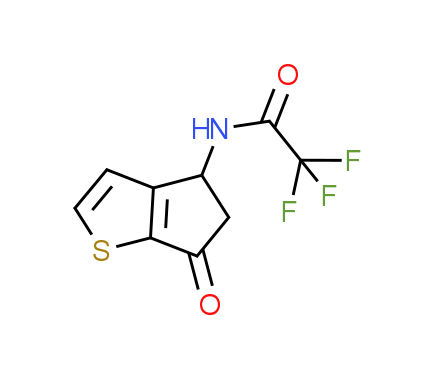 2,2,2-Trifluoro-N-(6-oxo-5,6-dihydro-4H-cyclopenta[b]thiophen-4-yl)acetamide