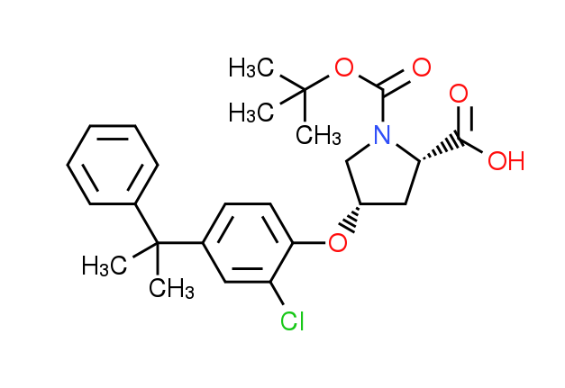 (2S,4S)-1-(tert-Butoxycarbonyl)-4-[2-chloro-4-(1-m^ethyl-1-phenylethyl)phenoxy]-2-pyrrolidinecarboxy