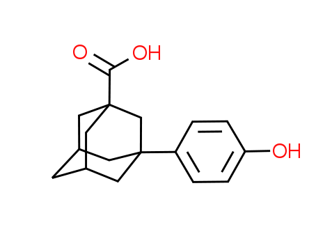 3-(4-Hydroxyphenyl)adamantane-1-carboxylic acid