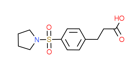 3-[4-(Pyrrolidin-1-ylsulfonyl)phenyl]-propanoic acid