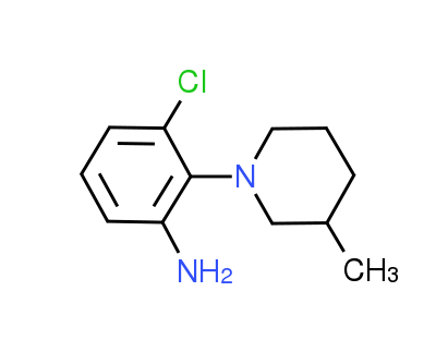 3-Chloro-2-(3-methyl-1-piperidinyl)aniline