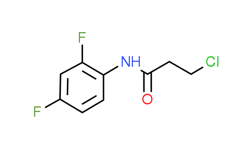 3-Chloro-N-(2,4-difluorophenyl)propanamide