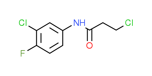 3-Chloro-N-(3-chloro-4-fluorophenyl)propanamide