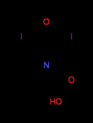 (3,5-Diiodo-4-oxopyridin-1(4H)-yl)acetic acid