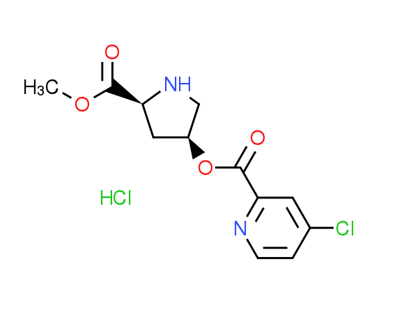 (3S,5S)-5-(Methoxycarbonyl)pyrrolidinyl 4-chloro-2^-pyridinecarboxylate hydrochloride
