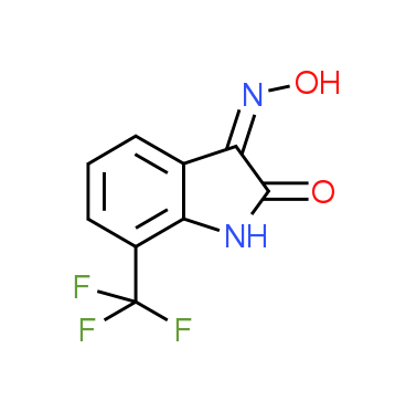 (3Z)-7-(Trifluoromethyl)-1H-indole-2,3-dione^3-oxime