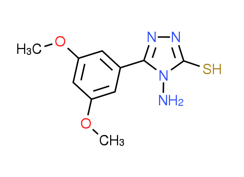 4-Amino-5-(3,5-dimethoxyphenyl)-4H-1,2,4-triazole-3-thiol