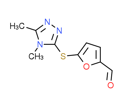 5-[(4,5-Dimethyl-4H-1,2,4-triazol-3-yl)thio]-2-furaldehyde