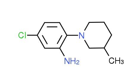 5-Chloro-2-(3-methyl-1-piperidinyl)aniline