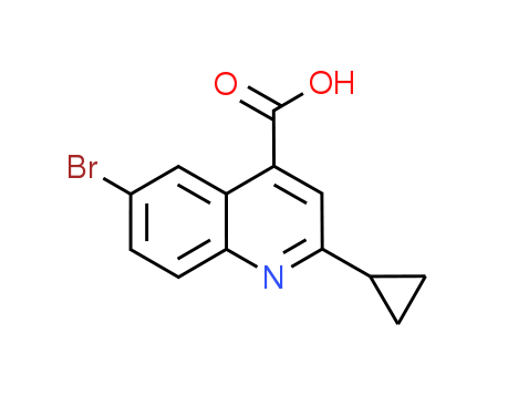 6-Bromo-2-cyclopropylquinoline-4-carboxylic acid