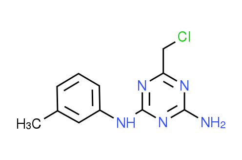 6-(Chloromethyl)-N-(3-methylphenyl)-1,3,5-triazine-2,4-diamine