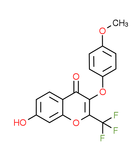 7-Hydroxy-3-(4-methoxyphenoxy)-2-(trifluoromethyl)-4H-chromen-4-one