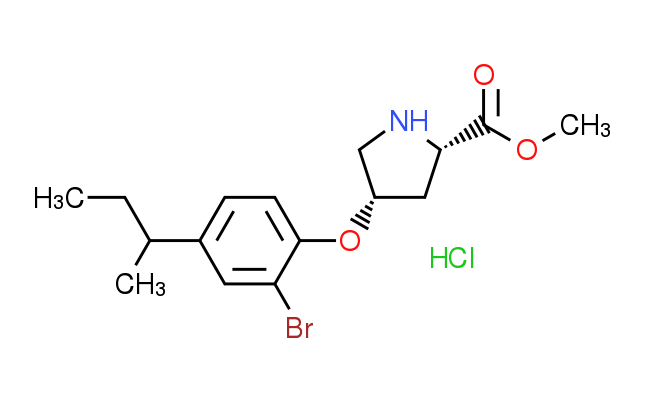 Methyl (2S,4S)-4-[2-bromo-4-(sec-butyl)phenoxy]-2-pyrrolidinecarboxylate hydrochloride