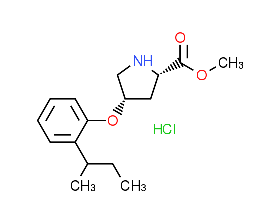 Methyl (2S,4S)-4-[2-(sec-butyl)phenoxy]-2-pyrrolidinecarboxylate hydrochloride