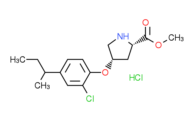 Methyl (2S,4S)-4-[4-(sec-butyl)-2-chlorophenoxy]-2^-pyrrolidinecarboxylate hydrochloride