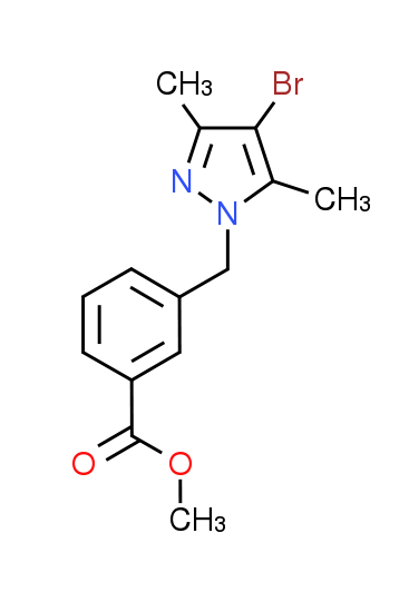 Methyl 3-[(4-bromo-3,5-dimethyl-1H-pyrazol-1-yl)-methyl]benzoate