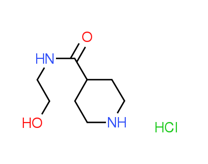 N-(2-Hydroxyethyl)-4-piperidinecarboxamide^hydrochloride