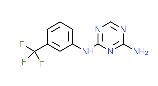 N-[3-(Trifluoromethyl)phenyl]-1,3,5-triazine-2,4-diamine