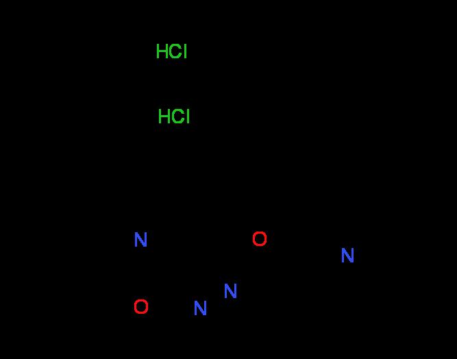 N,N-Diethyl-2-[(5-methyl-5H-pyridazino[3,4-b][1,4]^benzoxazin-3-yl)oxy]ethanamine dihydrochloride