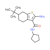 2-Amino-6-tert-butyl-N-cyclopentyl-4,5,6,7-tetrahydro-1-benzothiophene-3-carboxamide