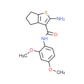 2-Amino-N-(2,4-dimethoxyphenyl)-5,6-dihydro-4H-cyclopenta[b]thiophene-3-carboxamide