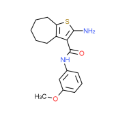 2-Amino-N-(3-methoxyphenyl)-5,6,7,8-tetrahydro-4H-cyclohepta[b]thiophene-3-carboxamide