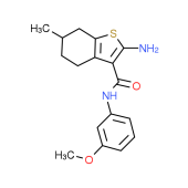2-Amino-N-(3-methoxyphenyl)-6-methyl-4,5,6,7-tetrahydro-1-benzothiophene-3-carboxamide