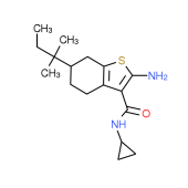 2-Amino-N-cyclopropyl-6-(1,1-dimethylpropyl)-4,5,6,7-tetrahydro-1-benzothiophene-3-carboxamide