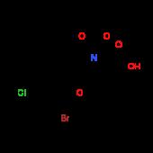 (2S,4S)-4-(2-Bromo-4-chloro-3,5-dimethylphenoxy)-1^-(tert-butoxycarbonyl)-2-pyrrolidinecarboxylic ac