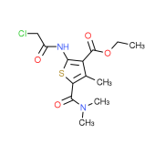 Ethyl 2-[(chloroacetyl)amino]-5-[(dimethylamino)-carbonyl]-4-methylthiophene-3-carboxylate
