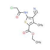 Ethyl 5-[(chloroacetyl)amino]-4-cyano-3-methylthiophene-2-carboxylate