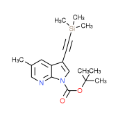 tert-Butyl 5-methyl-3-((trimethylsilyl)ethynyl)-1H-pyrrolo[2,3-b]pyridine-1-carboxylate