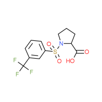 1-{[3-(Trifluoromethyl)phenyl]sulfonyl}-2-pyrrolidinecarboxylic acid