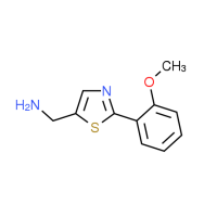 {[2-(2-Methoxyphenyl)-1,3-thiazol-5-yl]-methyl}amine