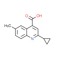 2-Cyclopropyl-6-methylquinoline-4-carboxylic acid