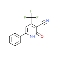 2-Oxo-6-phenyl-4-(trifluoromethyl)-1,2-dihydro-3-pyridinecarbonitrile