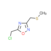 5-(Chloromethyl)-3-[(methylthio)methyl]-1,2,4-oxadiazole