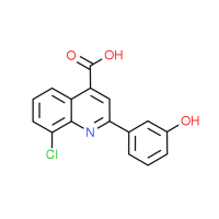 8-Chloro-2-(3-hydroxyphenyl)quinoline-4-carboxylic acid