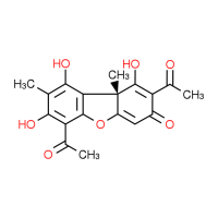 (9BR)-2,6-diacetyl-1,7,9-trihydroxy-8,9b-dimethyldibenzo[b,d]furan-3(9bH)-one