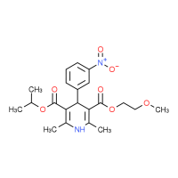 Isopropyl 2-methoxyethyl 2,6-dimethyl-4-(3-nitrophenyl)-1,4-dihydropyridine-3,5-dicarboxylate