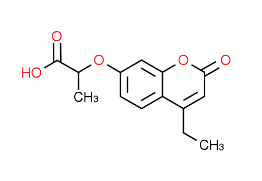2-[(4-Ethyl-2-oxo-2H-chromen-7-yl)oxy]-propanoic acid