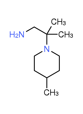 2-Methyl-2-(4-methylpiperidin-1-yl)propan-1-amine