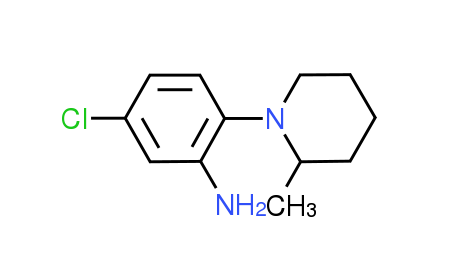 5-Chloro-2-(2-methyl-1-piperidinyl)aniline